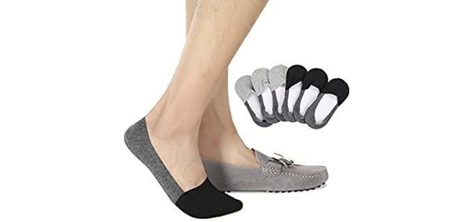 Joulli Men's's No Slip - Casual Best Loafer Socks
