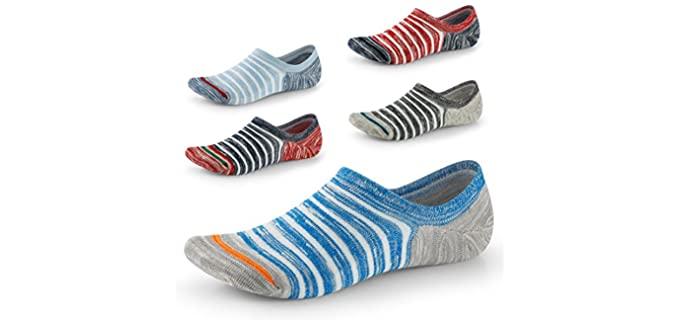 Seesily Men's's Cotton - Best Loafer Socks