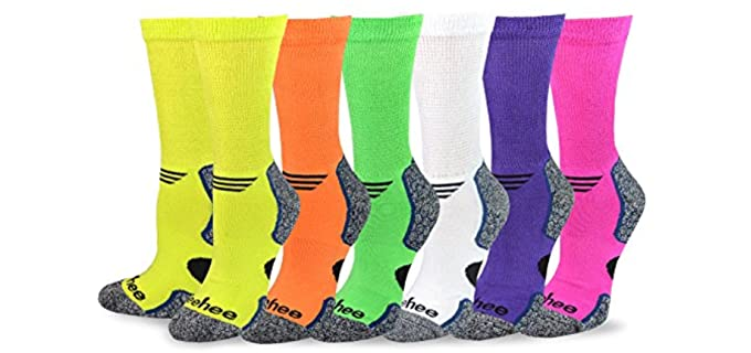 TeeHee Unisex Cushioned - Assorted Bamboo Diabetic Socks