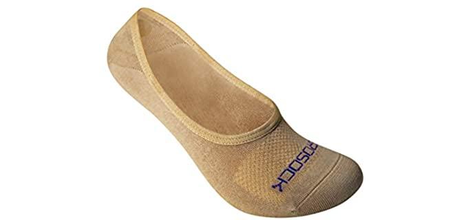 Zerosock Women's's Strong Grip - Bamboo Best Loafer Socks