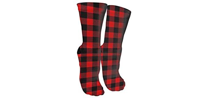 Antspuent Store Unisex Cushioned - Versatile Buffalo Plaid Socks
