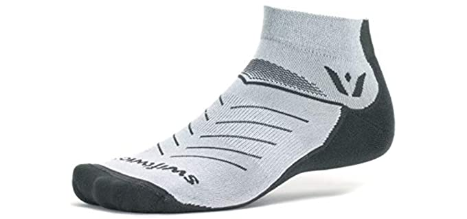 Swiftwick Unisex Trail Running Socks - Olefin-Nylon Compression Trail Running Socks