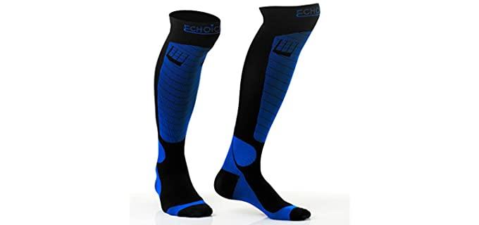 LuChoice Unisex Professional - Blue Compression Socks